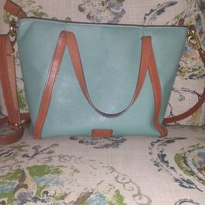 Fossil purse. Light green/teal/blue shade.